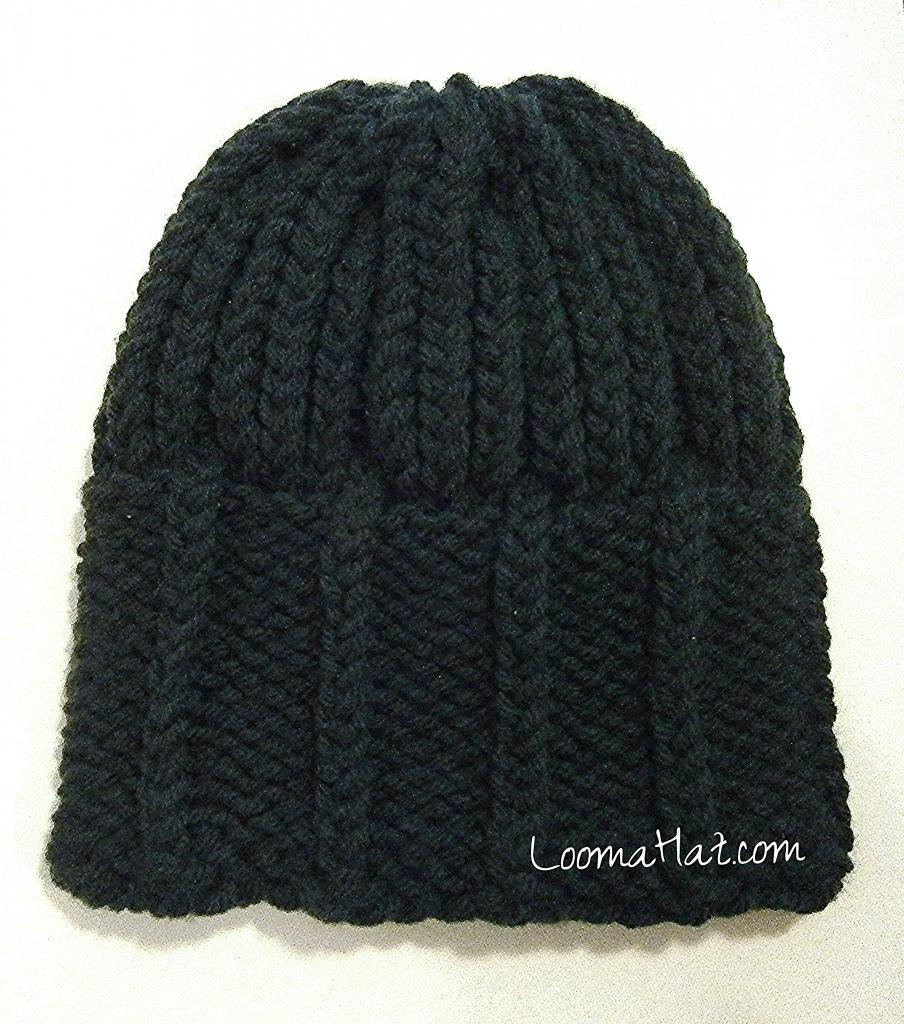 Loom Knit Hat Patterns Free Mens Knit Hat On A Round Knitting Loom