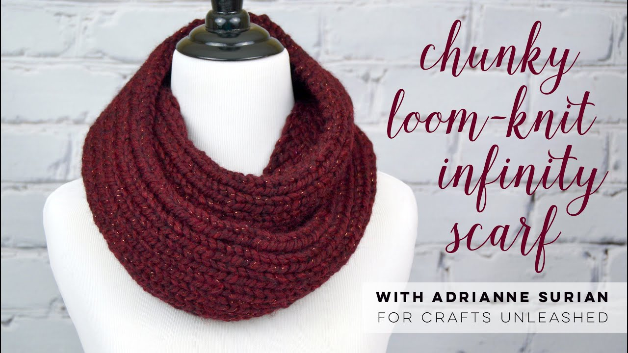 Loom Knit Patterns Round Looms Chunky Loom Knit Infinity Scarf Tutorial