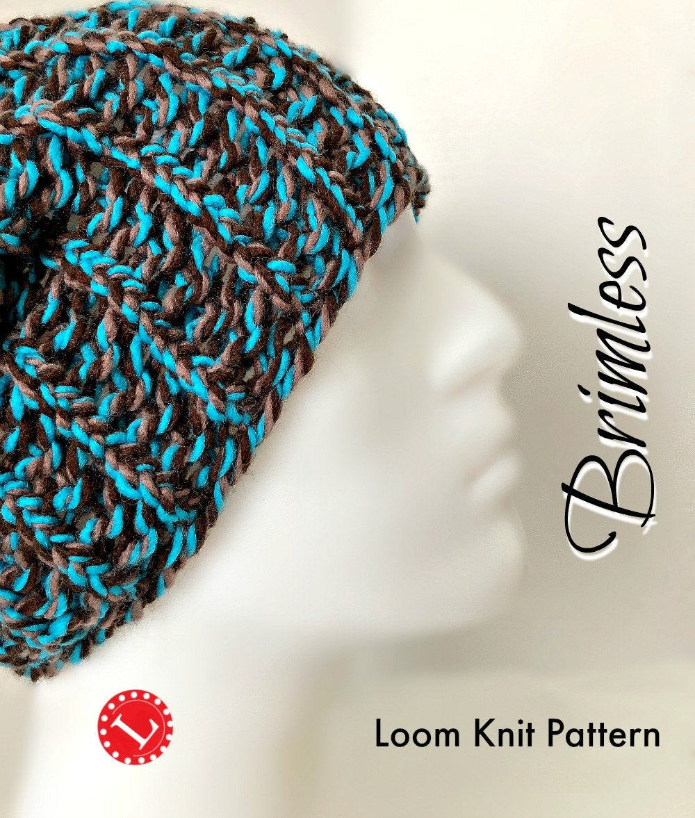 Loom Knit Patterns Round Looms Loom Knitting Patterns Hat Slouchy Beanie For Men Or Women Includes Video Tutorial Extra Large Round Knitting Looms Broken Rib Loomahat