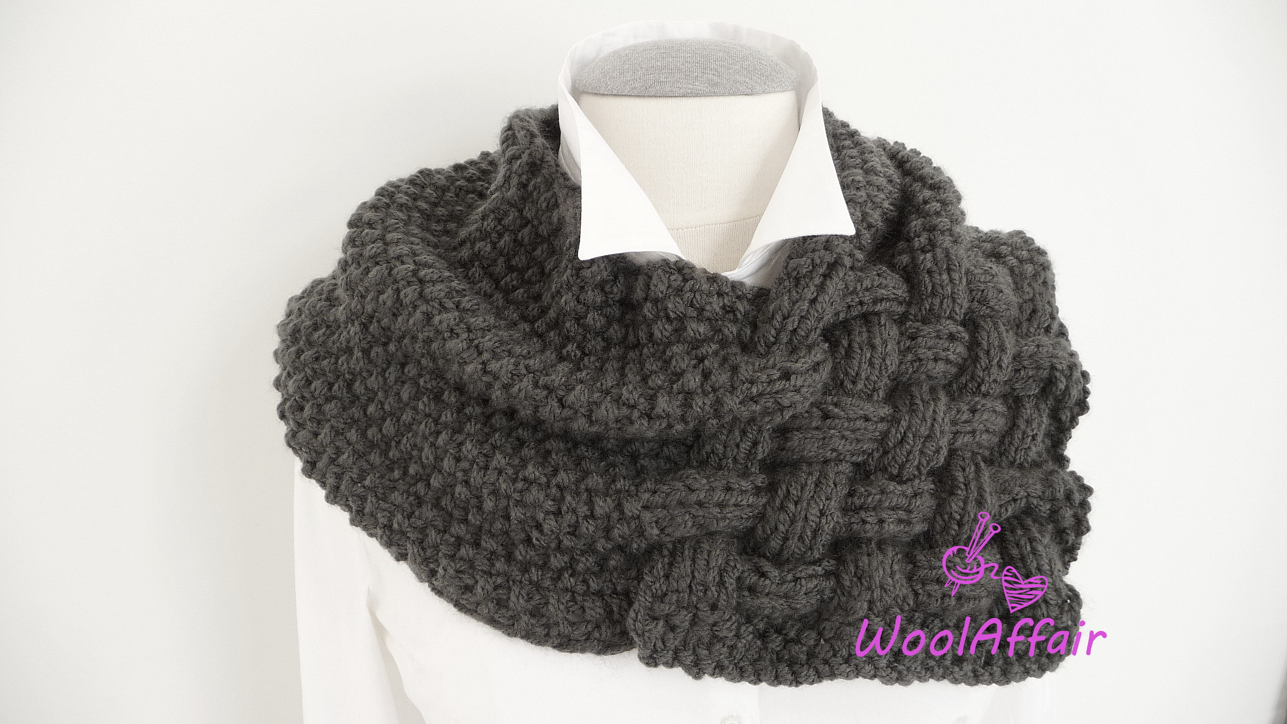 Loop Scarf Knitting Pattern Knitting Pattern Weave Style Scarf Chunky Loop For Newbies No111e