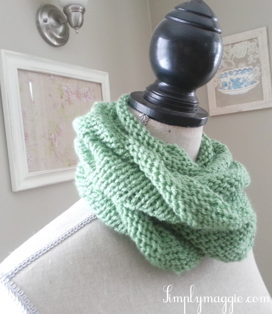 Loop Scarf Knitting Pattern Spring Knit Infinity Scarf Simplymaggie