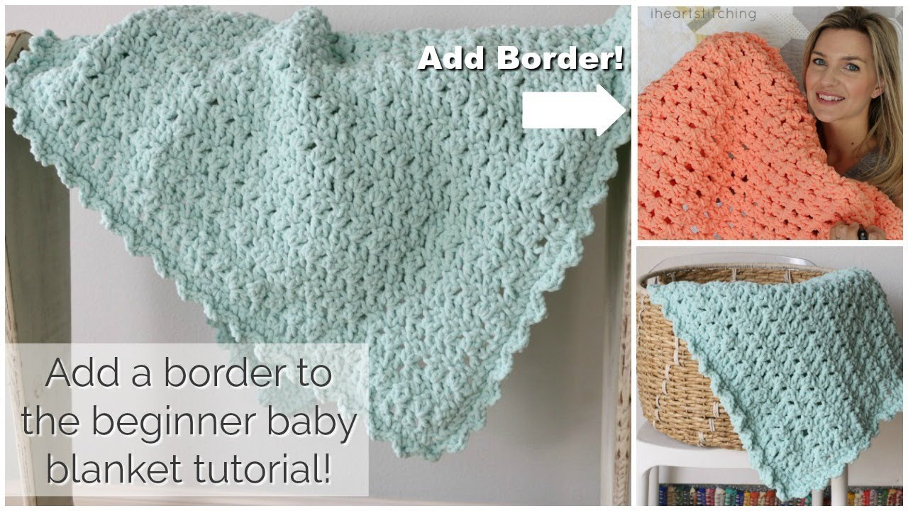 Machine Knit Baby Blanket Pattern Add A Border To The Easy Crochet Ba Blanket