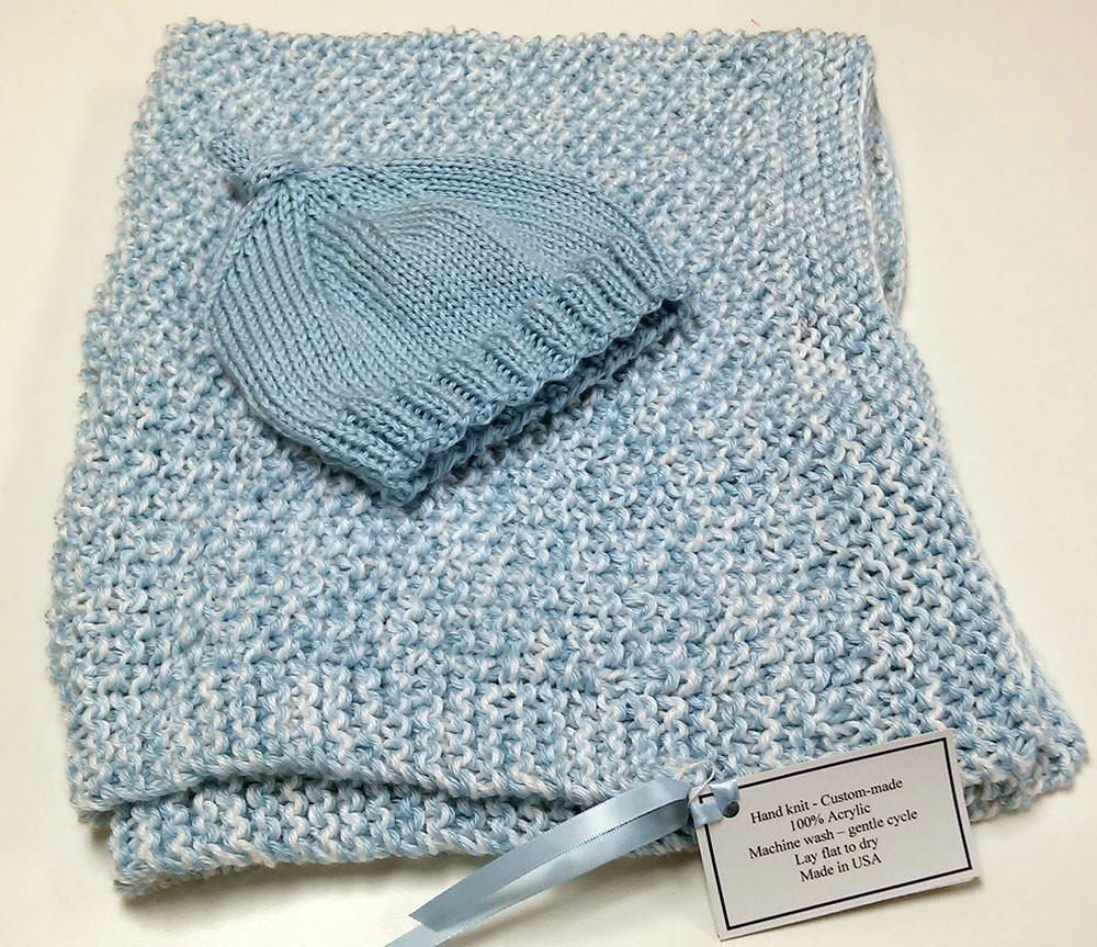 Machine Knit Baby Blanket Pattern Hand Knit Ba Blankets And Hats Embroidered Treasures