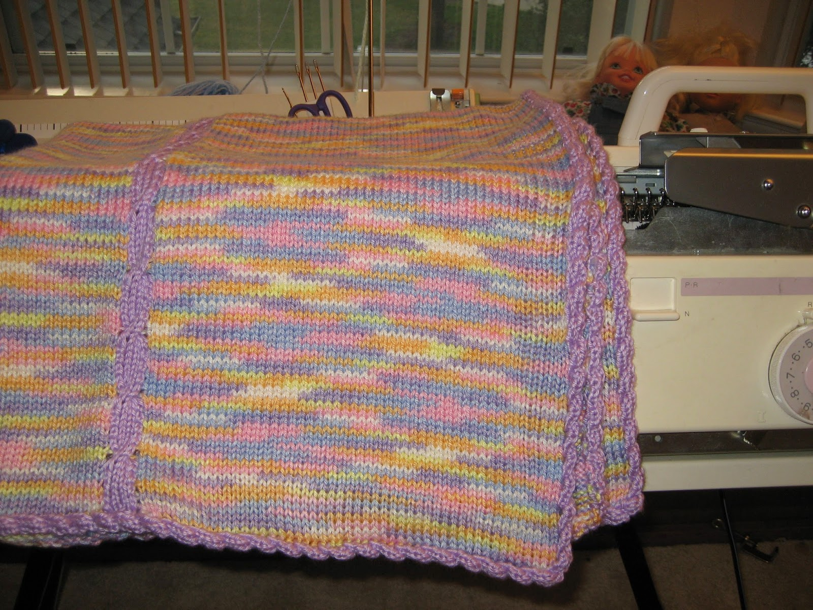 Machine Knit Baby Blanket Pattern Products