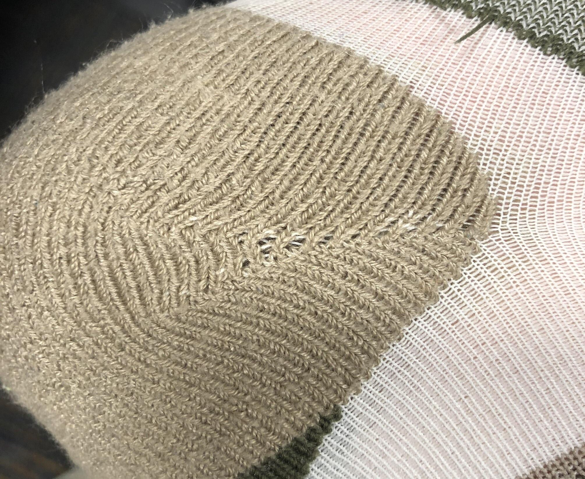 Machine Knit Sock Pattern Most Machine Knit Socks Have Some Sort Of Double Short Row Heel That