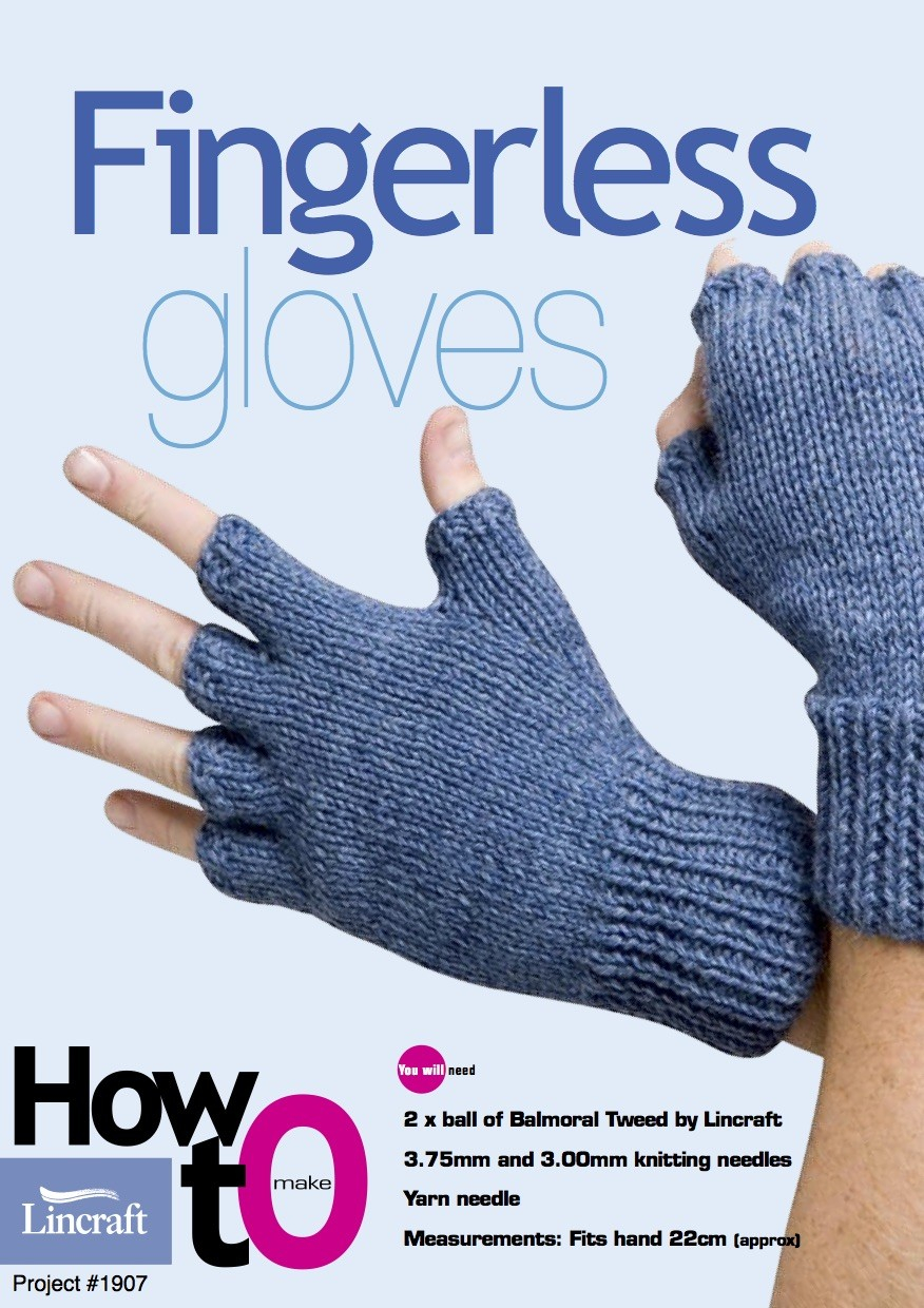 Mens Fingerless Gloves Knit Pattern Fingerless Gloves 1907 Knitting Lincraft