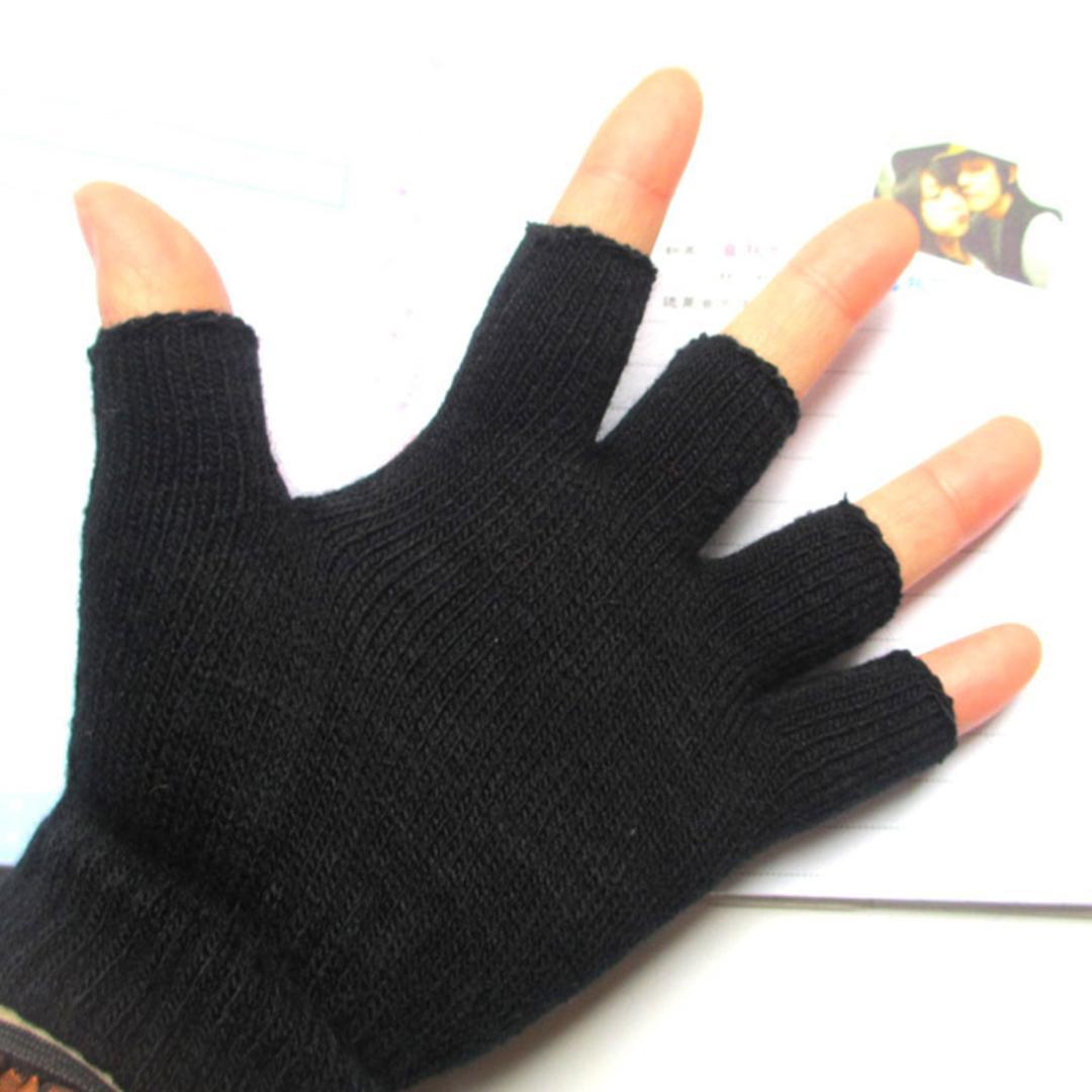 Mens Fingerless Gloves Knitting Pattern 2019 Popular Autumn And Winter Warm Half Finger Gloves Fashion Knit Mens Fingerless Gloves Computer Learning Casual Fashion From Yongq 3292