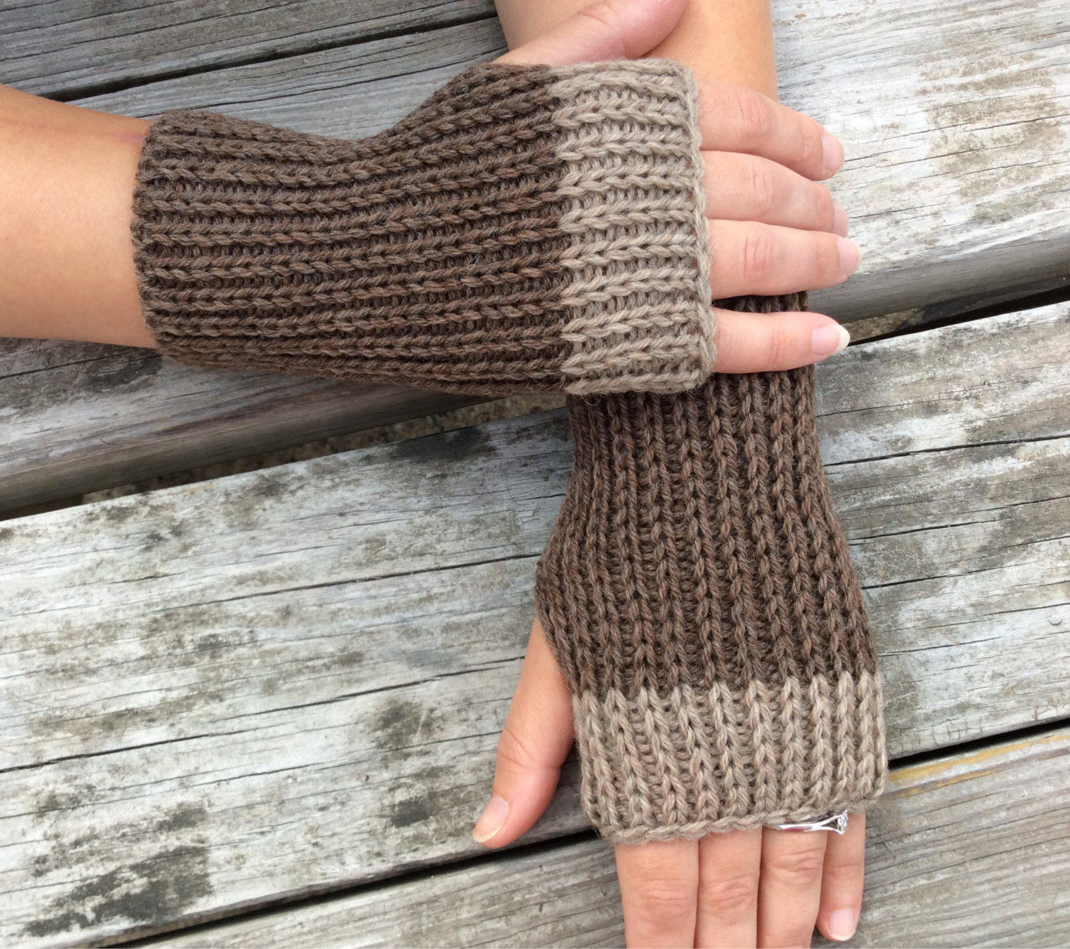 Mens Fingerless Gloves Knitting Pattern Brown Fingerless Gloves Mens Fingerless Gloves Knit Gloves Wrist Warmers Hand Warmers Texting Gloves Brown