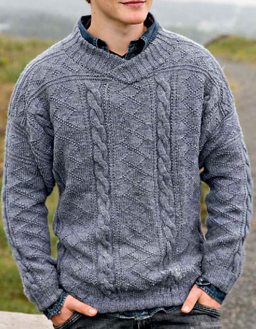 Mens Knit Patterns Cabled Sweater Knitting Pattern Free