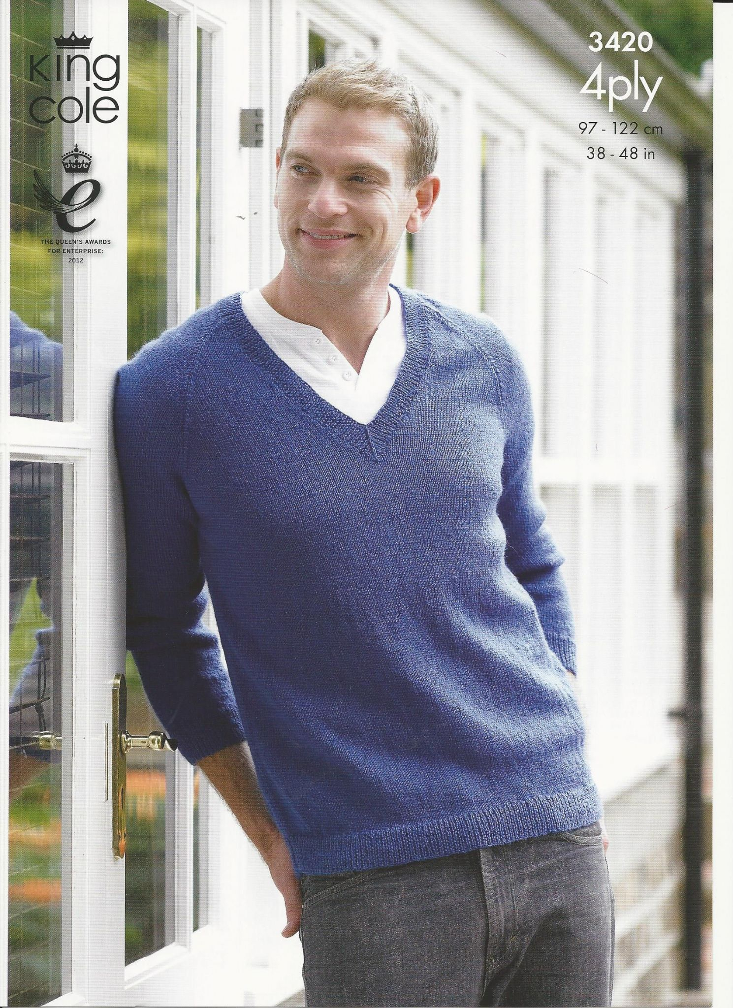 Mens Knit Patterns King Cole Mens Sweater And Cardigan 4ply Knitting Pattern 3420