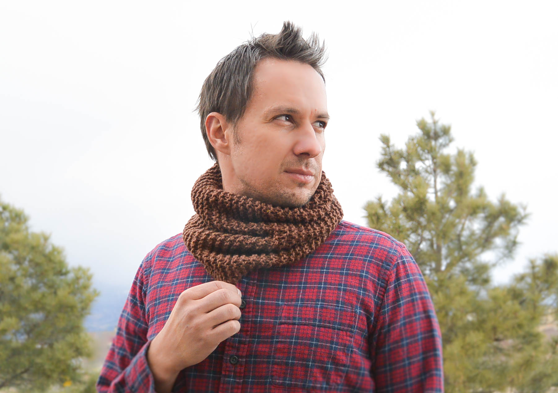 Mens Knit Patterns Manly Man Beginner Knit Cowl Mama In A Stitch