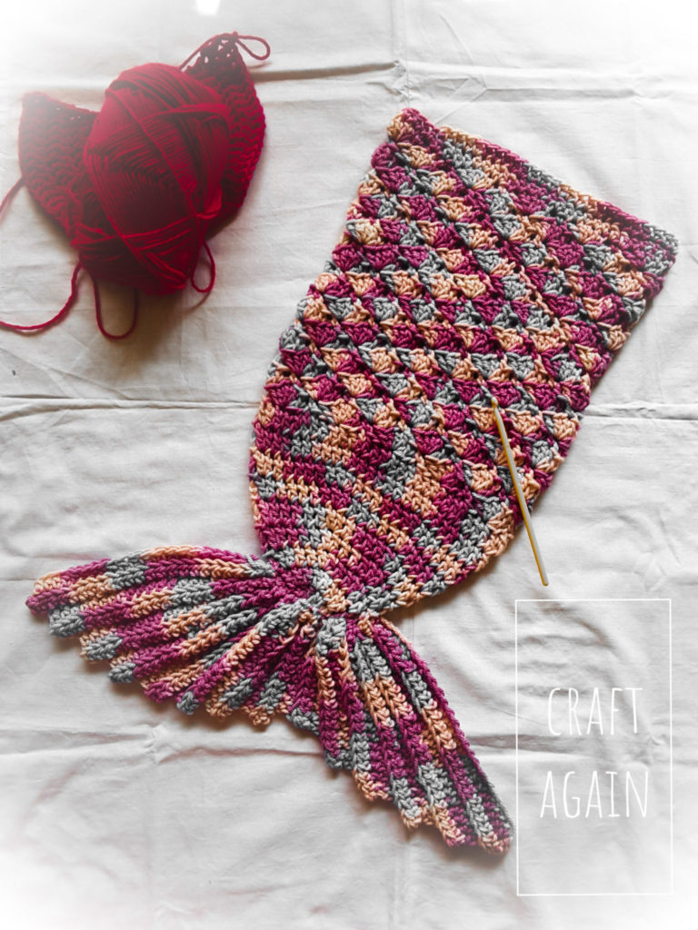 Mermaid Cocoon Knitting Pattern A Mermaid Tail Crochet Cocoon A Free Pattern Craft Again