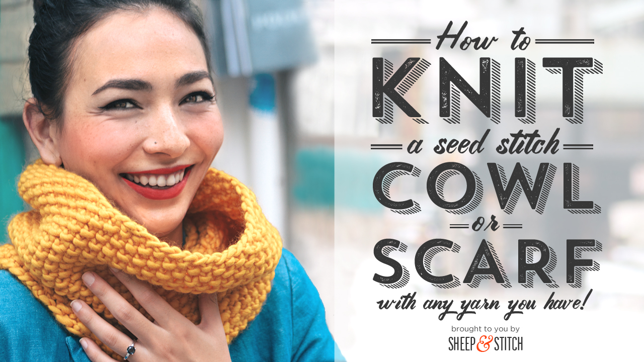 Moss Stitch Scarf Knitting Pattern Seed Stitch Scarf And Cowl Pattern Customised For Any Yarn