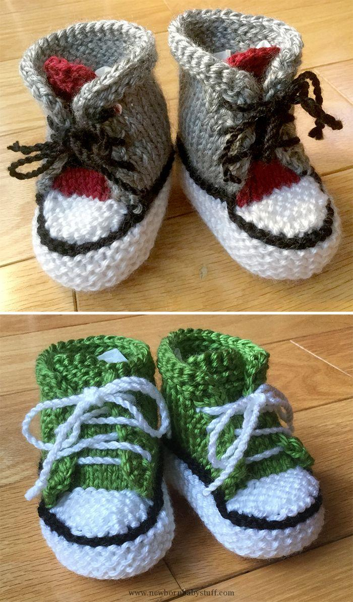 New Born Knitting Patterns Ba Knitting Patterns Free Knitting Pattern For Little Converse