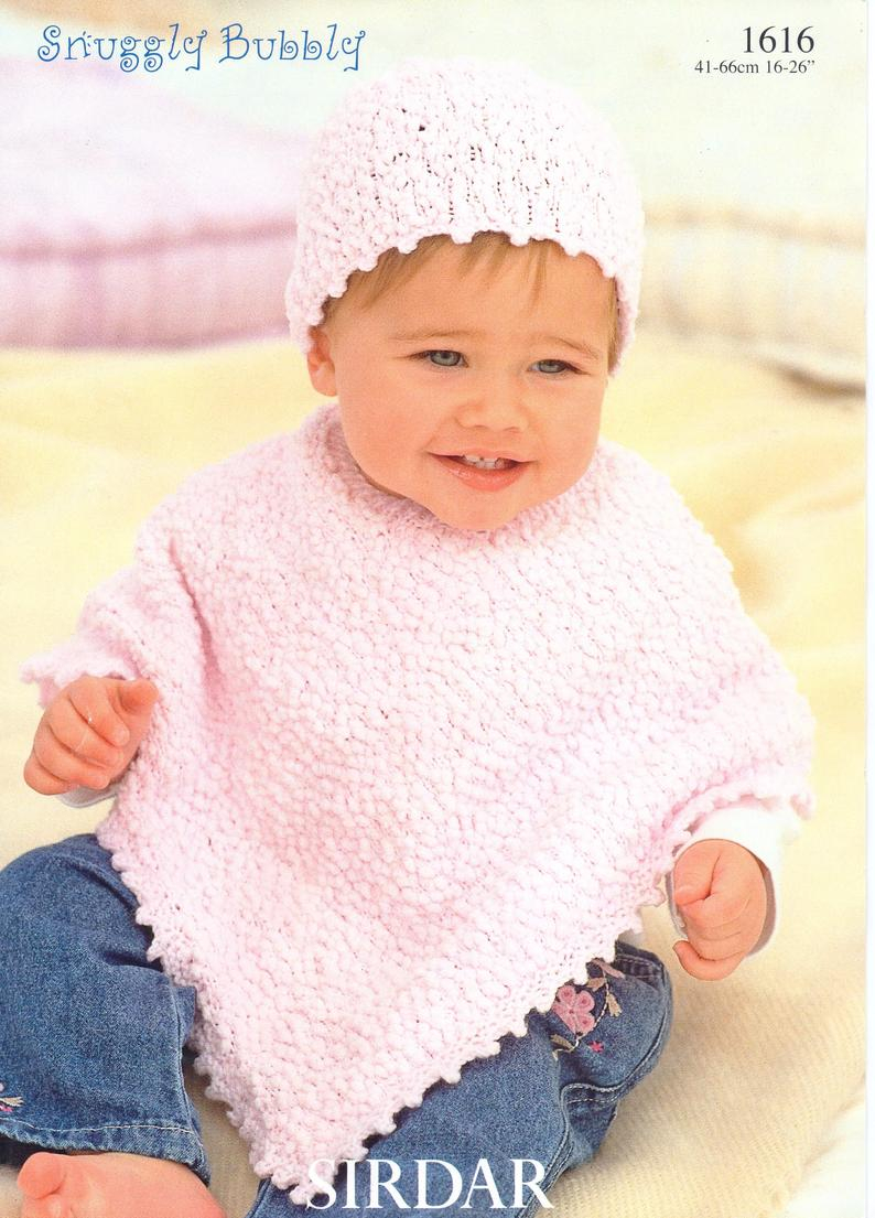 New Born Knitting Patterns Ba Ponchos Knitting Pattern Childs Ponchos Hats Poncho Newborn 16 26 Inch 0 6 Years Ba Knitting Pattern Pdf Instant Download