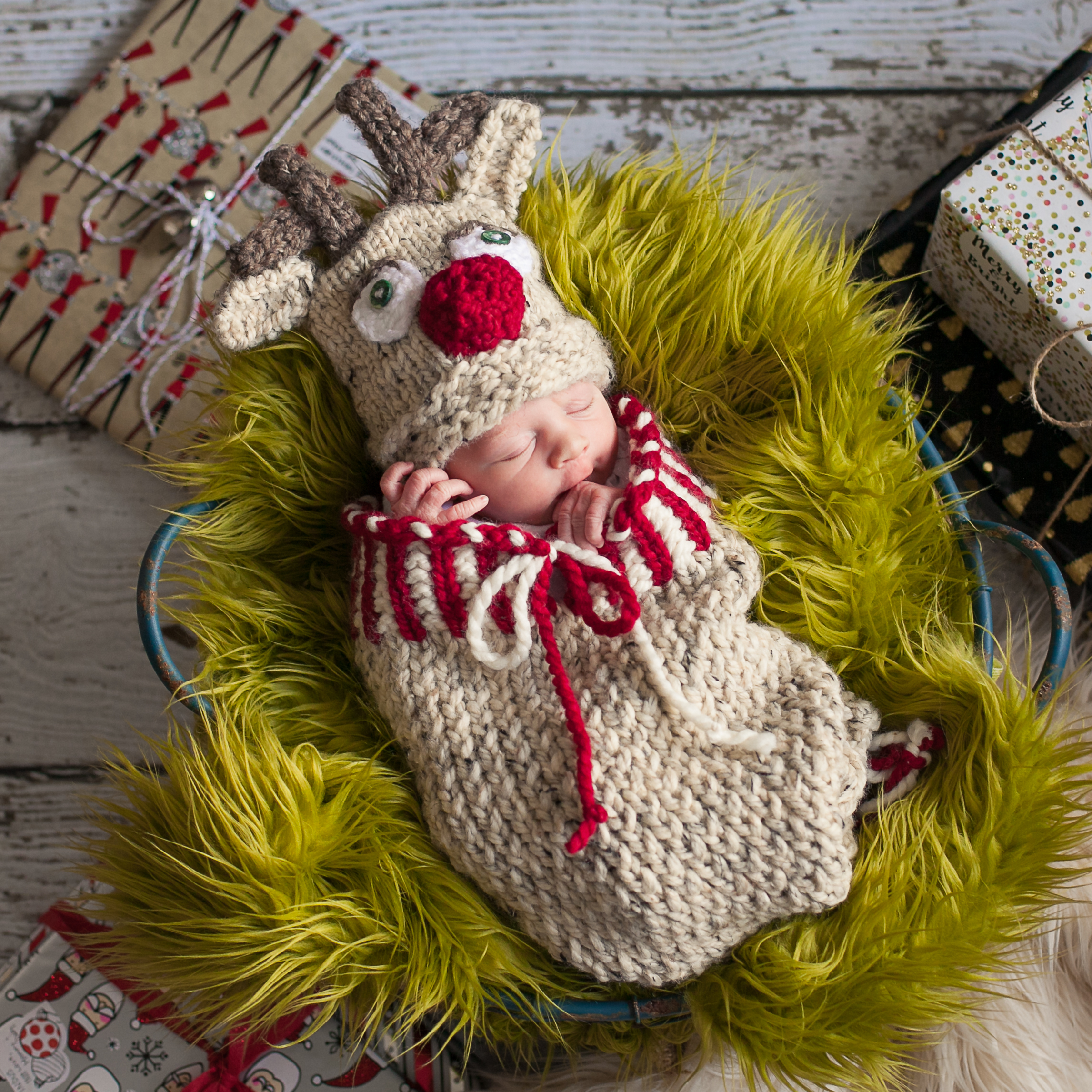 New Born Knitting Patterns Loom Knit Reindeer Cocoon And Hat Set Pattern Pdf Newborn Christmas Cocoon Set Loom Knitting Pattern