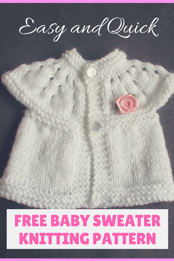 Newborn Knit Patterns Top Down Ba Sweater Knitting Patterns Easier To Adjust Fit And Size