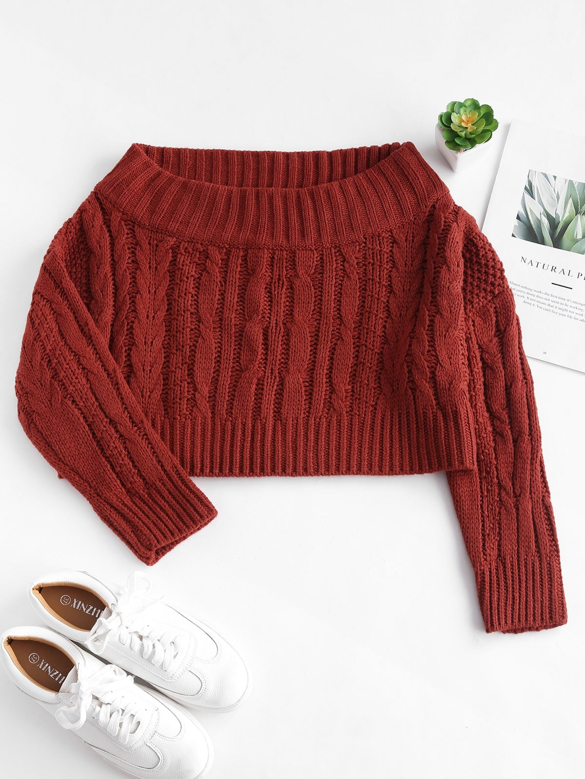 Off The Shoulder Sweater Knitting Pattern Cable Knit Off The Shoulder Sweater