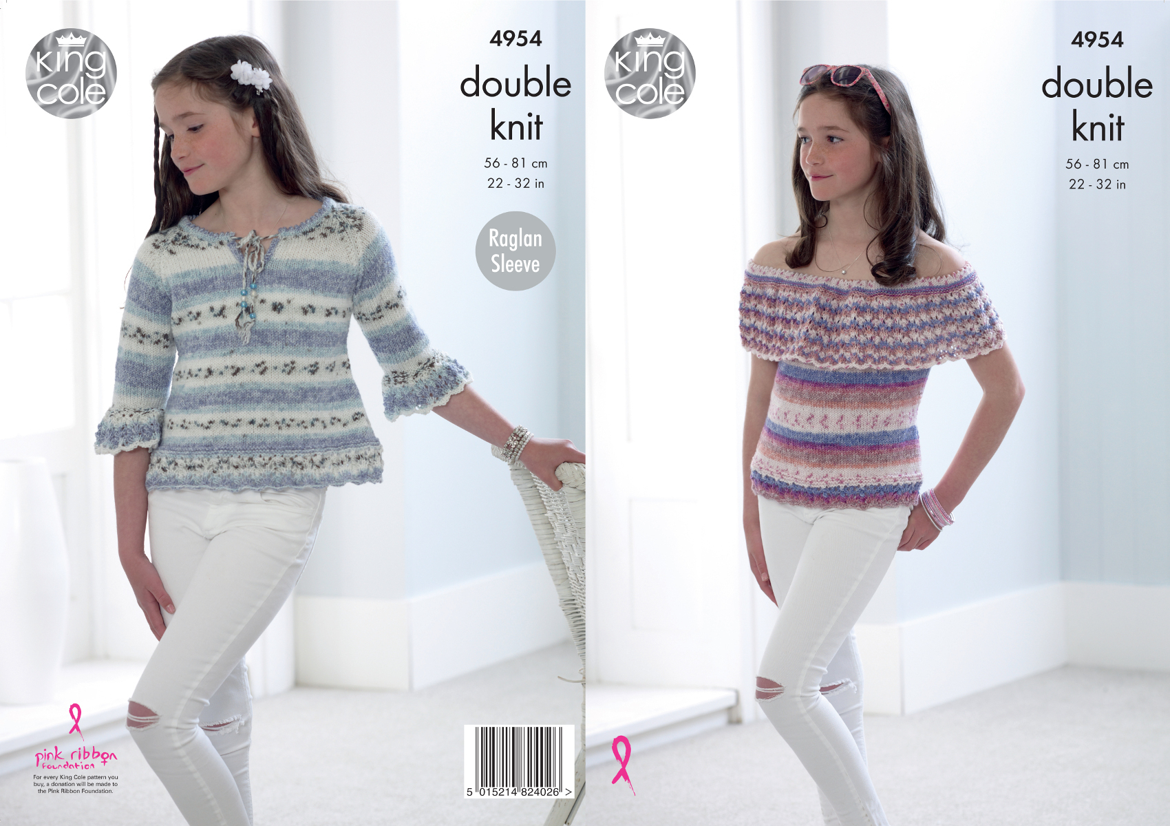 Off The Shoulder Sweater Knitting Pattern Details About Girls Double Knitting Pattern King Cole Off Shoulder Top Raglan Sweater 4954