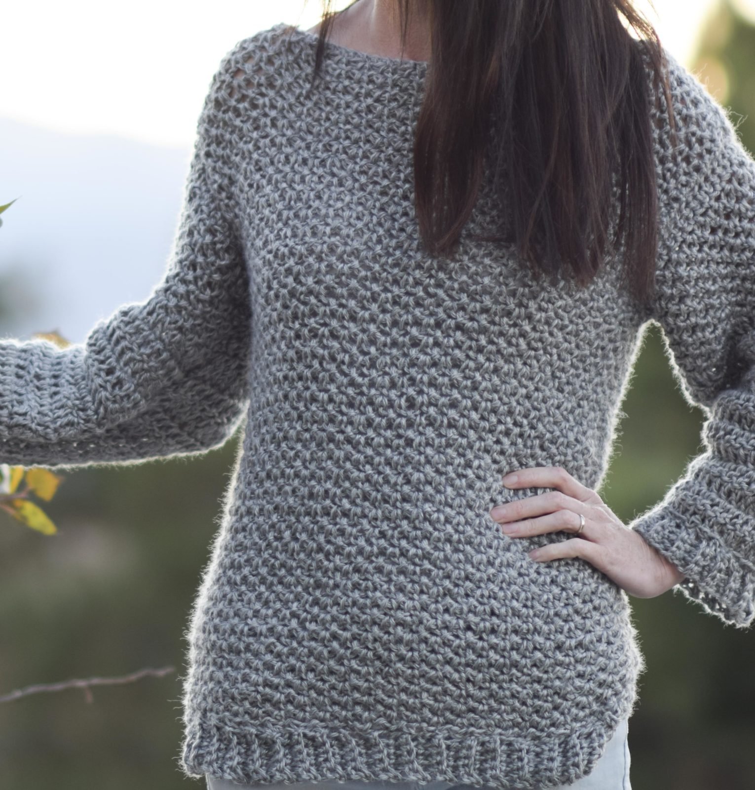 Off The Shoulder Sweater Knitting Pattern How To Make An Easy Crocheted Sweater Knit Like Mama In A Stitch