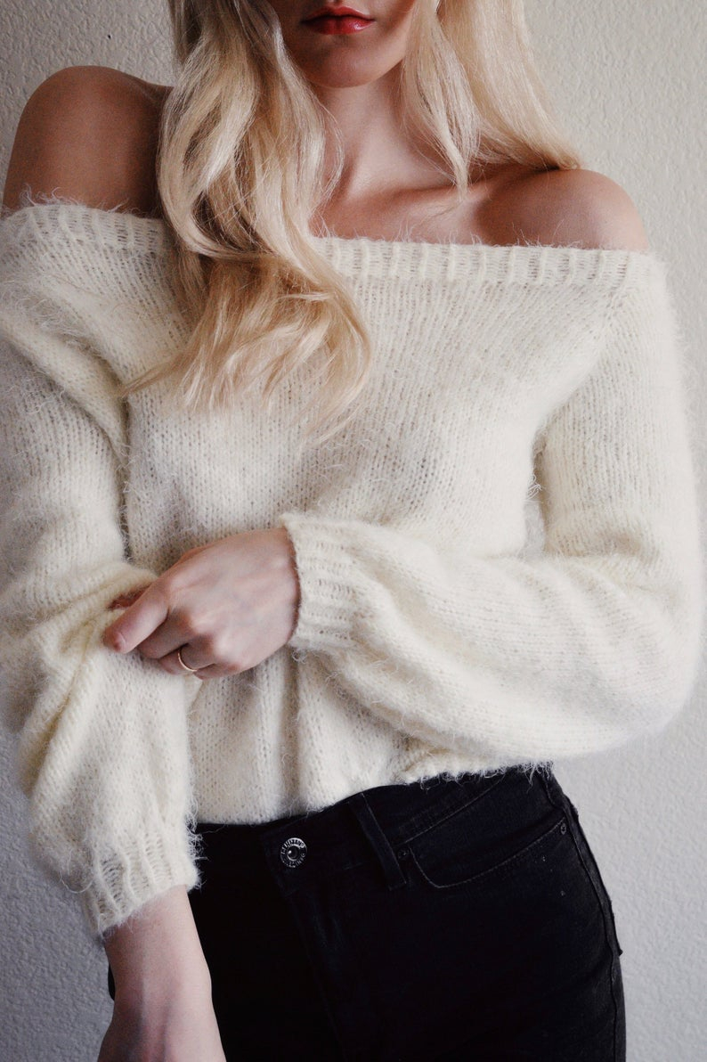 Off The Shoulder Sweater Knitting Pattern Knitting Pattern Off Shoulder Sweater Knitting Pattern Cold Shoulder Sweater Womens Knit Sweater Off Shoulder Women Sweater Knit Pdf