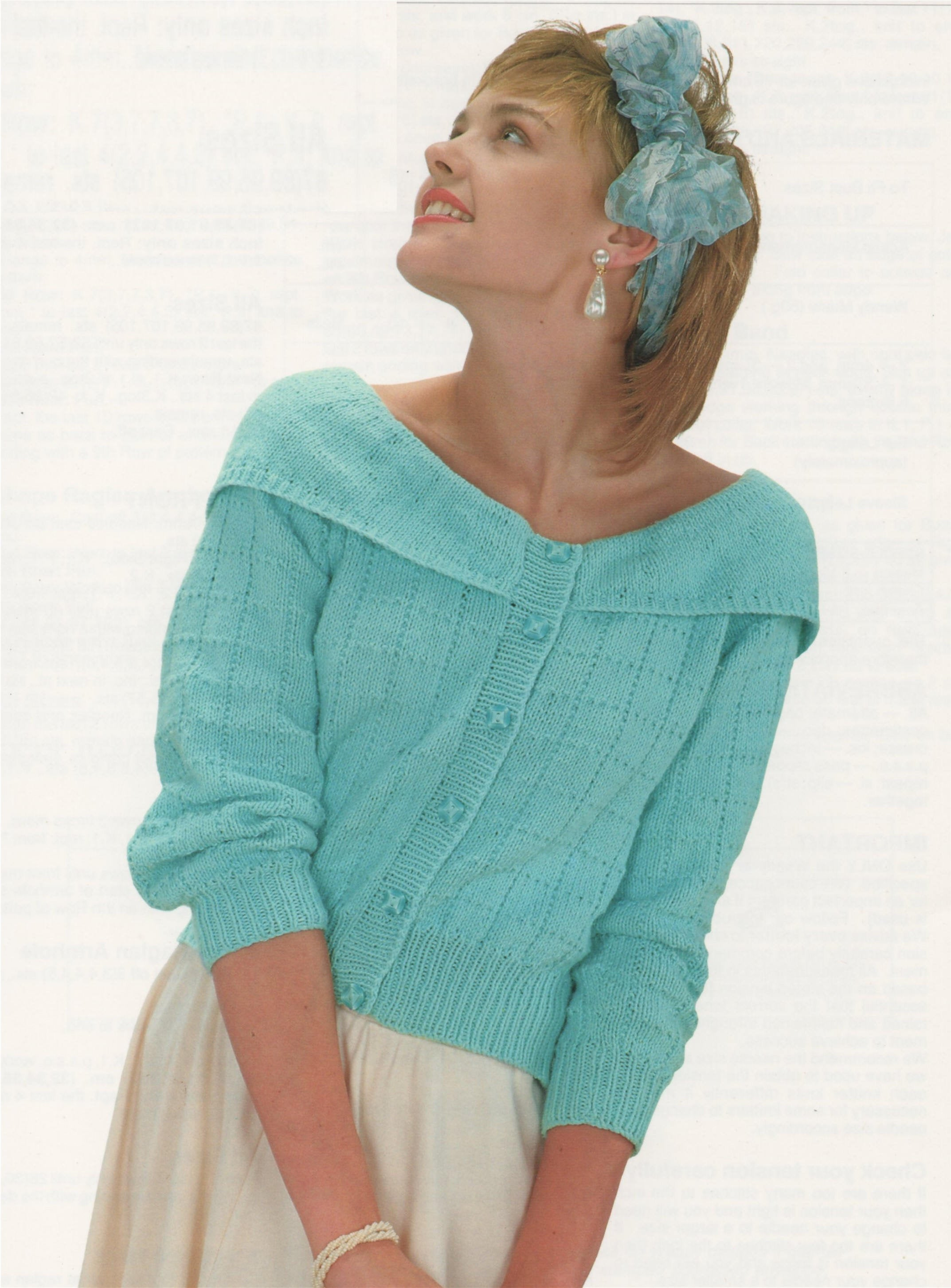 Off The Shoulder Sweater Knitting Pattern Womens Cardigan Knitting Pattern Pdf Ladies 30 32 34 36 38 And