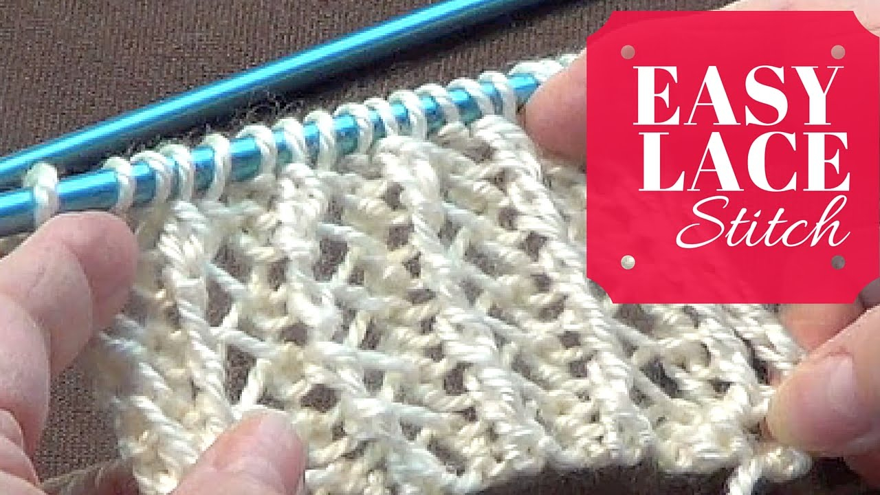 Open Knit Scarf Pattern Easy Lace Stitch One Row Repeat