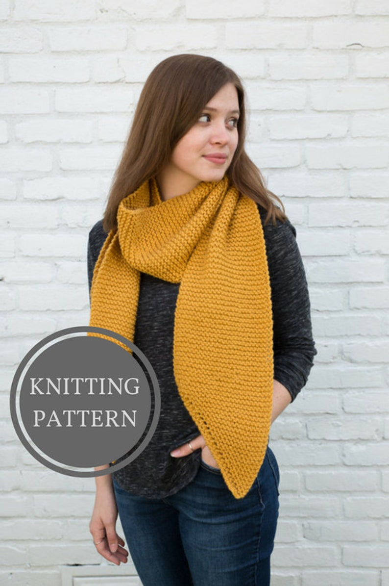 Open Knit Scarf Pattern Louise Scarf Pattern Beginner Knitting Pattern Open Ended Scarf Pattern Knit Scarf Pattern Garter Stitch Scarf Easy Knit Pattern