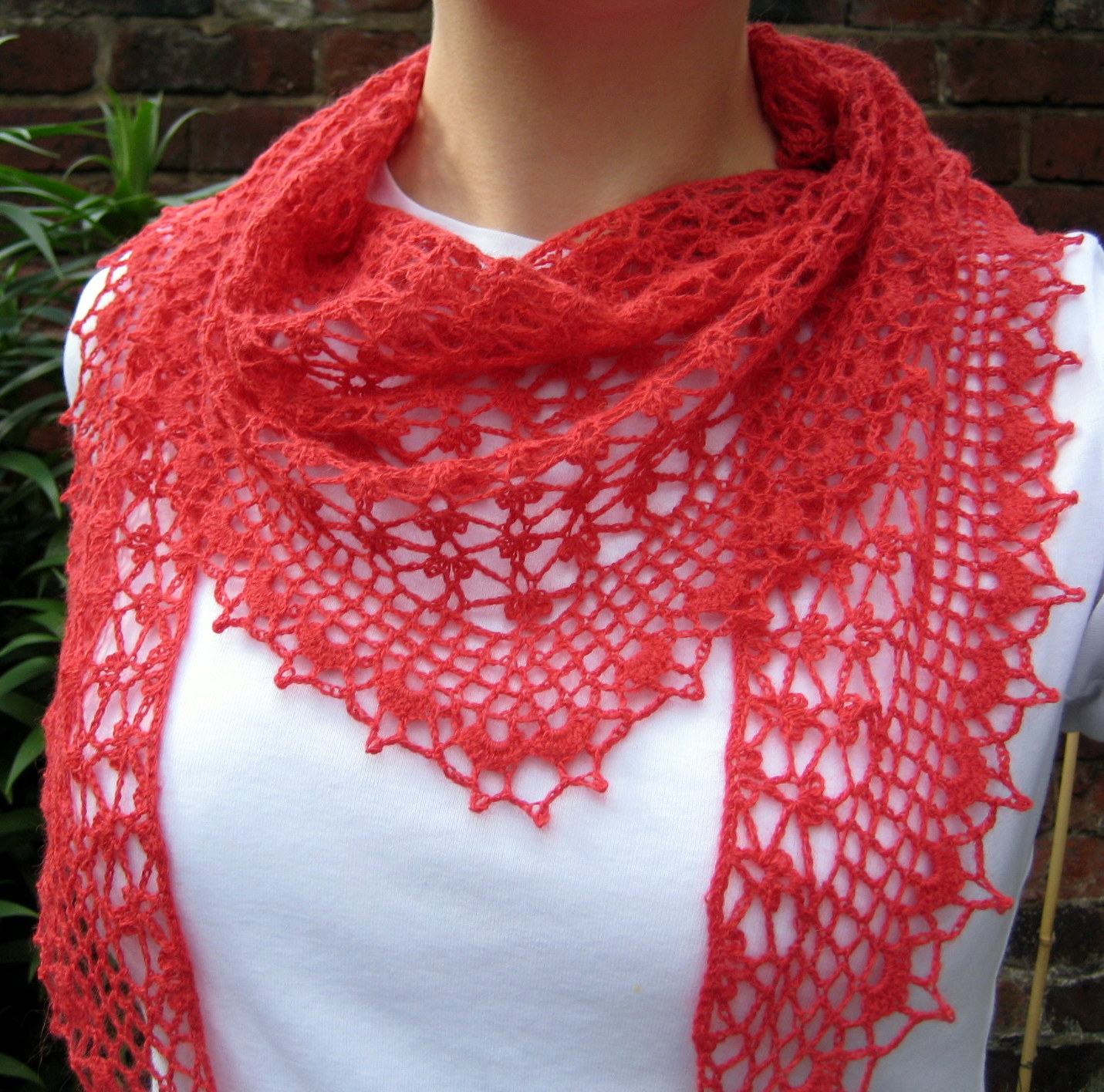 Open Knit Scarf Pattern Summer Sprigs Lace Scarf Make My Day Creative