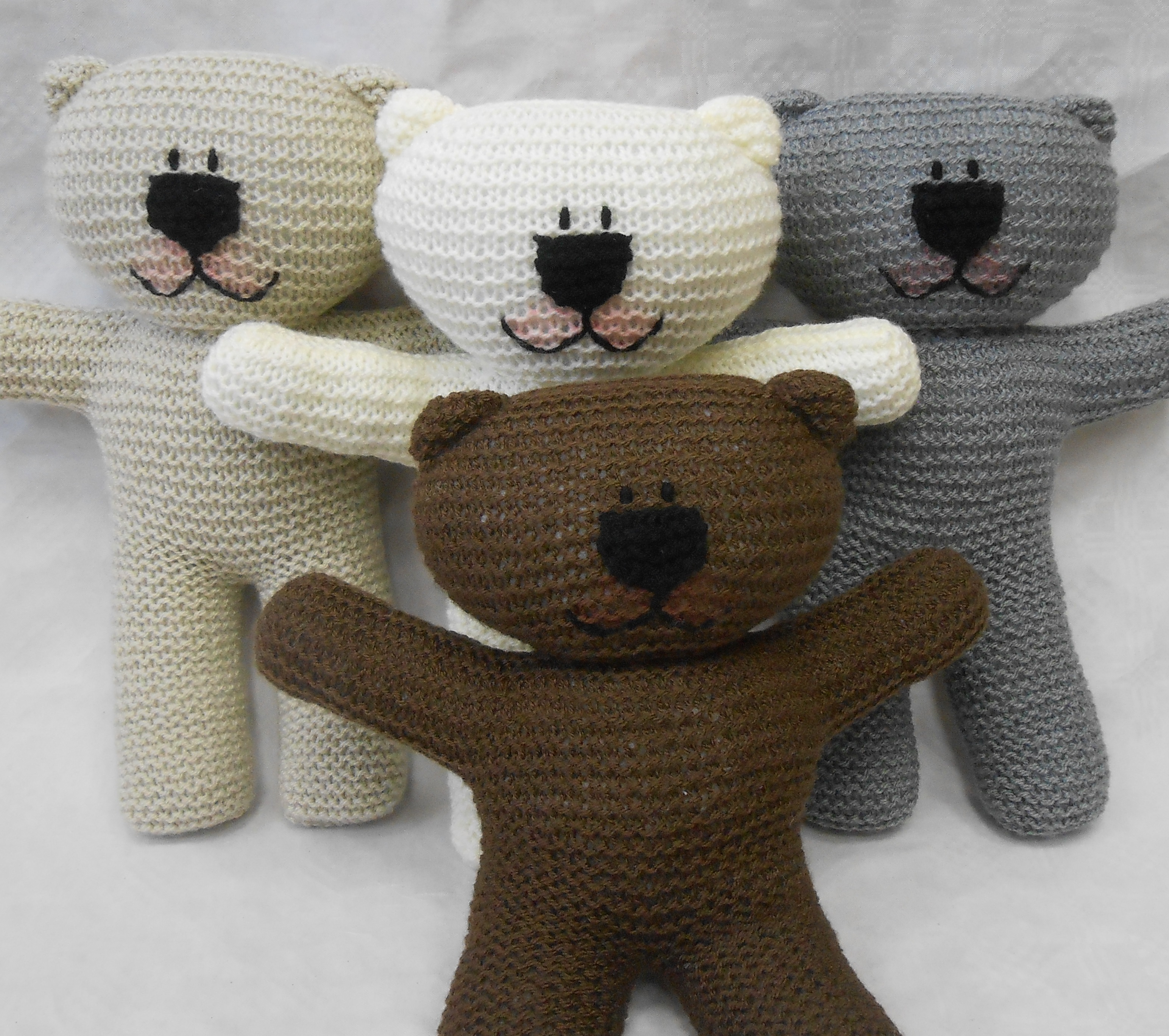 Pattern Knit Teddy Bear Easy Knit Pattern Suitable For Beginner Knitters With Illustrated Instructions Wooly Crew Ideal Learn To Knit Pattern