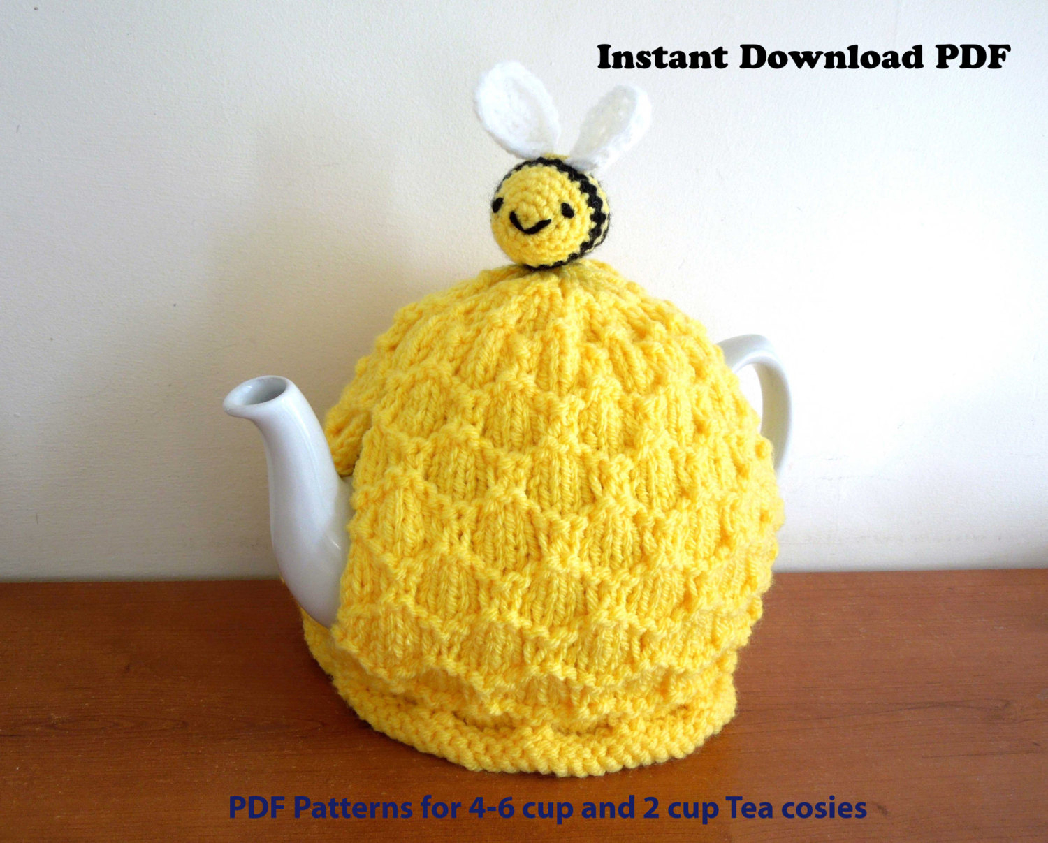 Patterns For Knitted Tea Cosies Beehive Tea Cosy Knitting Digital Pattern Only For 4 6 Cup 2 Pt 40 Fl Oz Standard Teapot And Small 2 Cup 450ml Teapot Bee Pattern