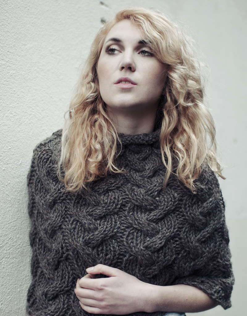Poncho Knitting Pattern Chunky Cable Cape Pdf