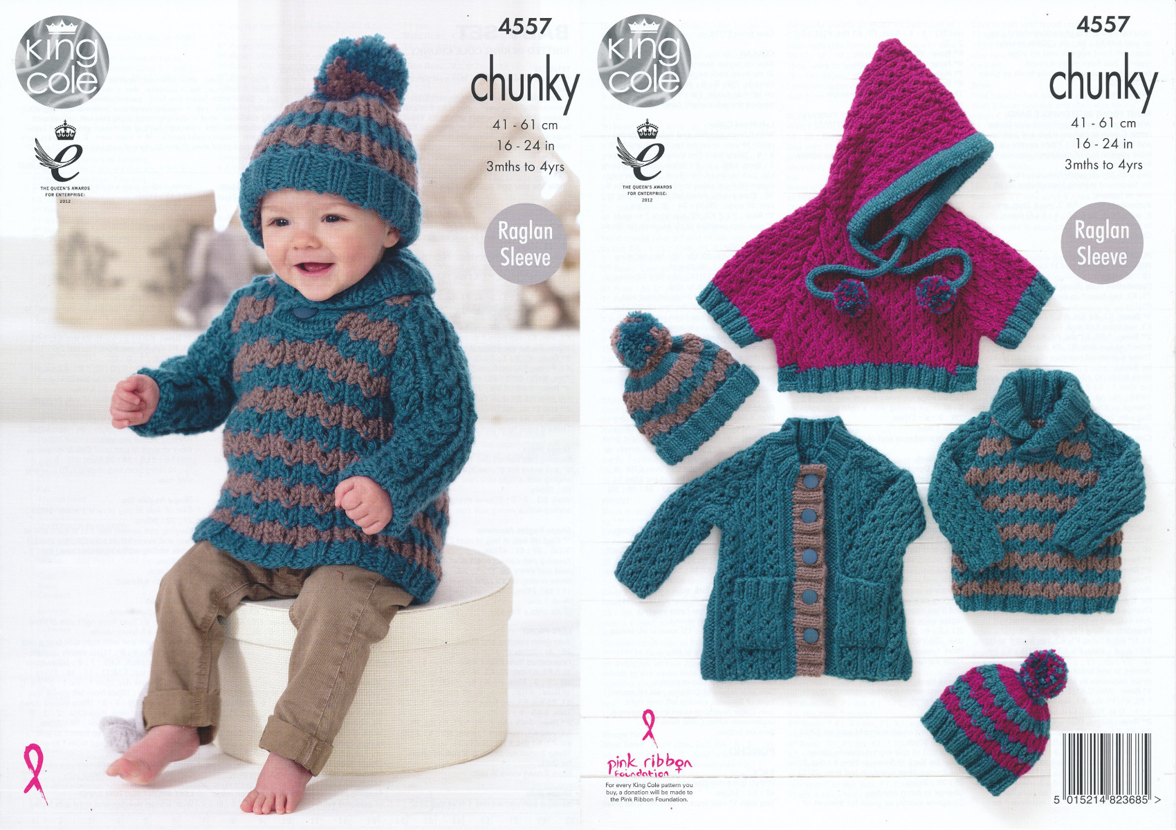 Poncho Knitting Pattern Chunky Details About Chunky Knit Knitting Pattern King Cole Ba Coat Jumper Poncho Hat Set 4557
