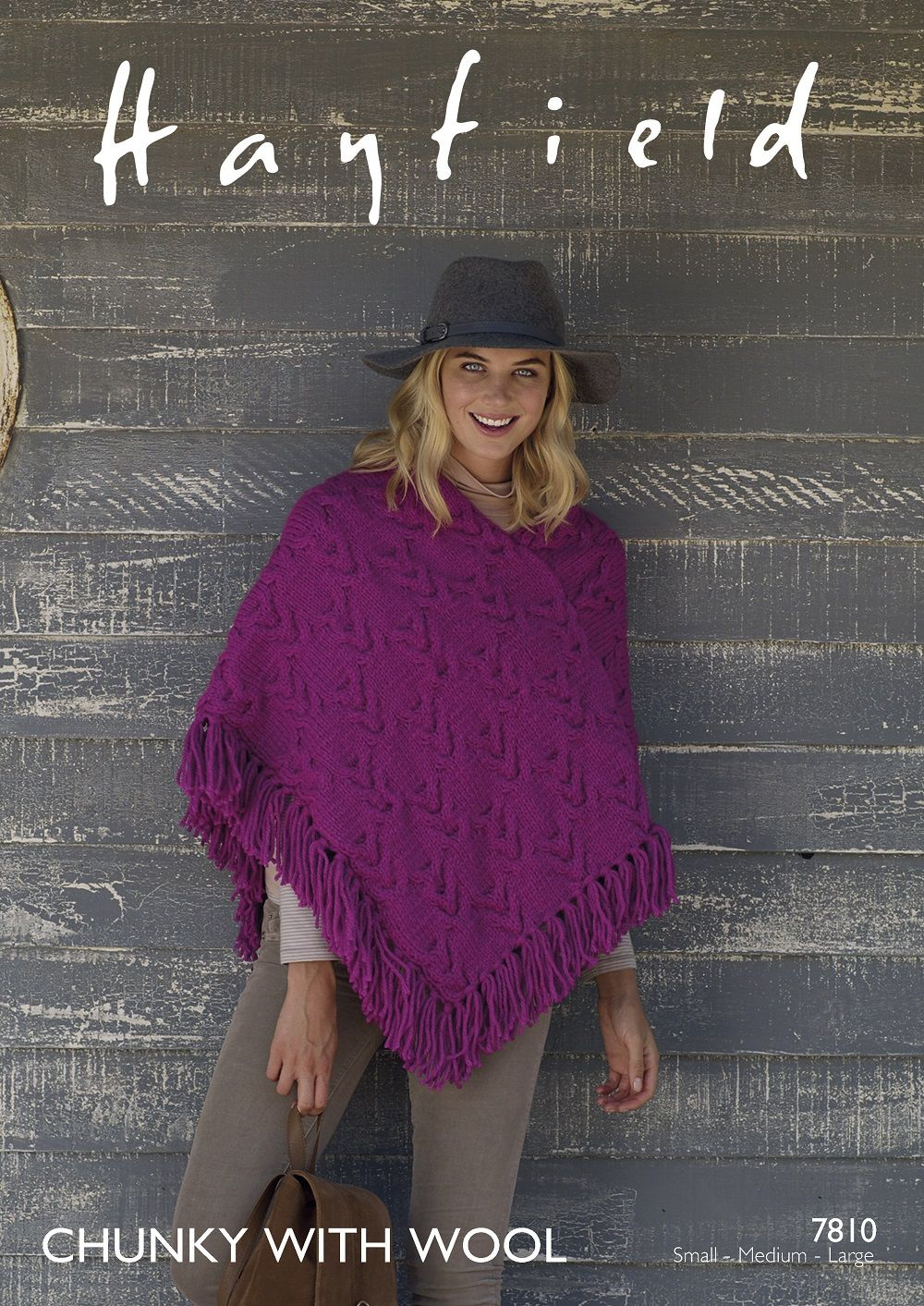 Poncho Knitting Pattern Chunky Hayfield Ladies Poncho Knitting Pattern In Chunky With Wool 7810p Pdf