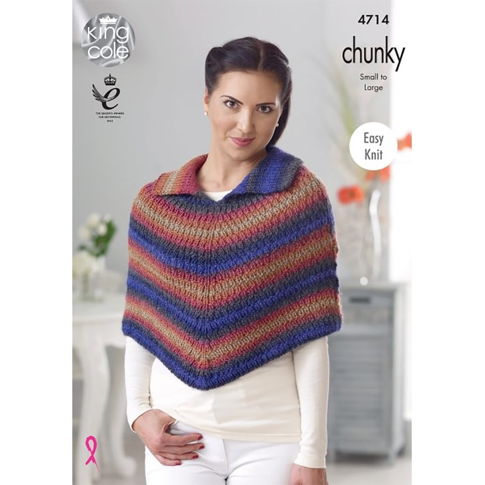 Poncho Knitting Pattern Chunky Riot Chunky Knitting Pattern 4714