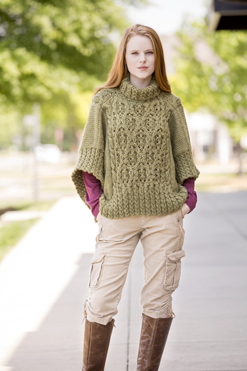 Poncho Knitting Pattern Chunky Universal Yarns Deluxe Cable Collection Patterns Catawba River Poncho Pdf Download Pattern