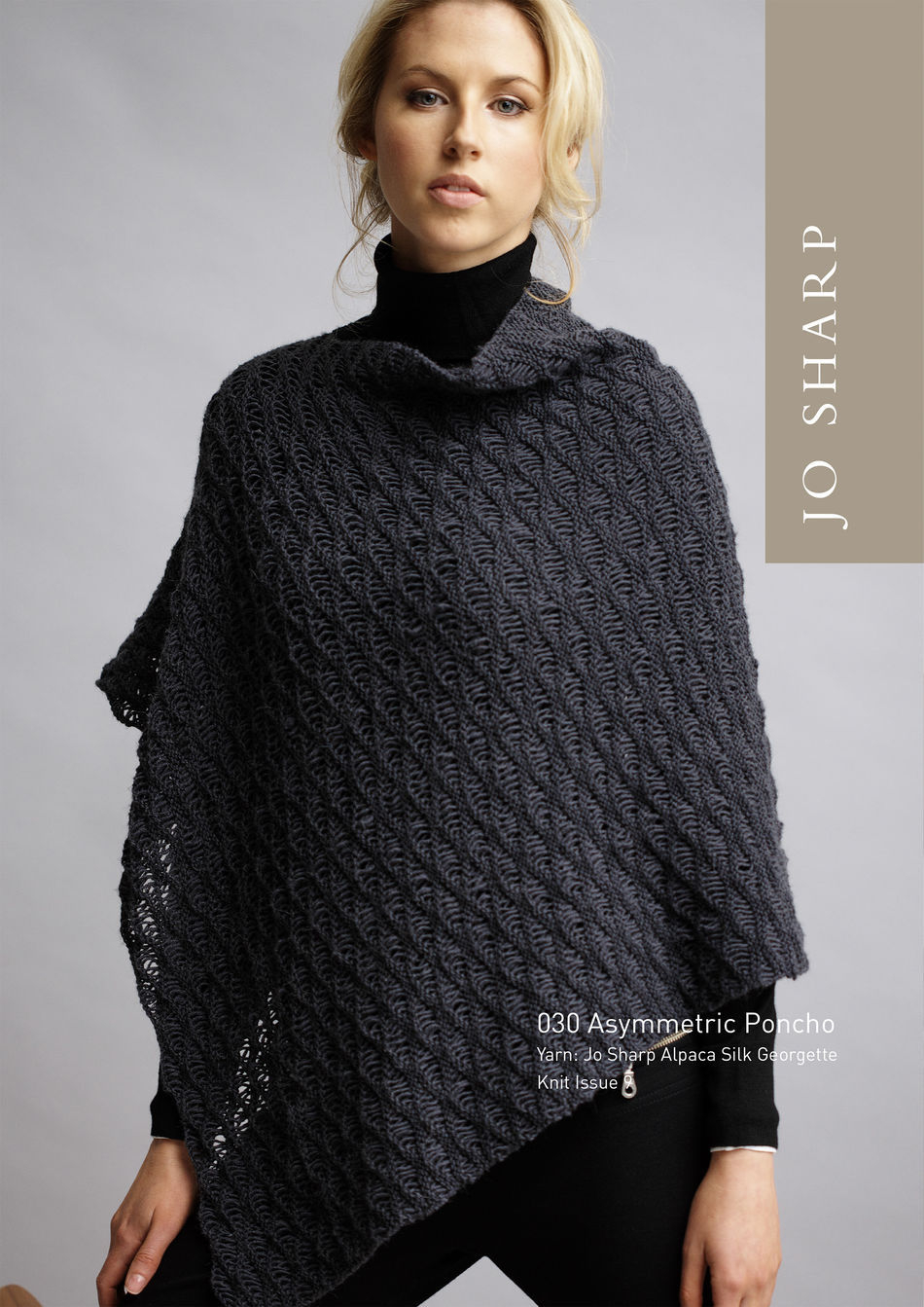 Poncho Pattern Knit Jo Sharp Asymmetric Poncho Pattern Knitting Pattern