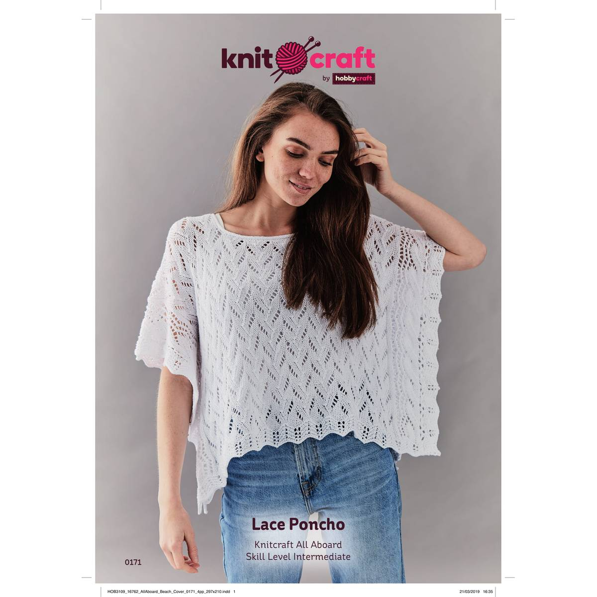 Poncho Pattern Knit Knitcraft Lace Poncho Digital Pattern 0171