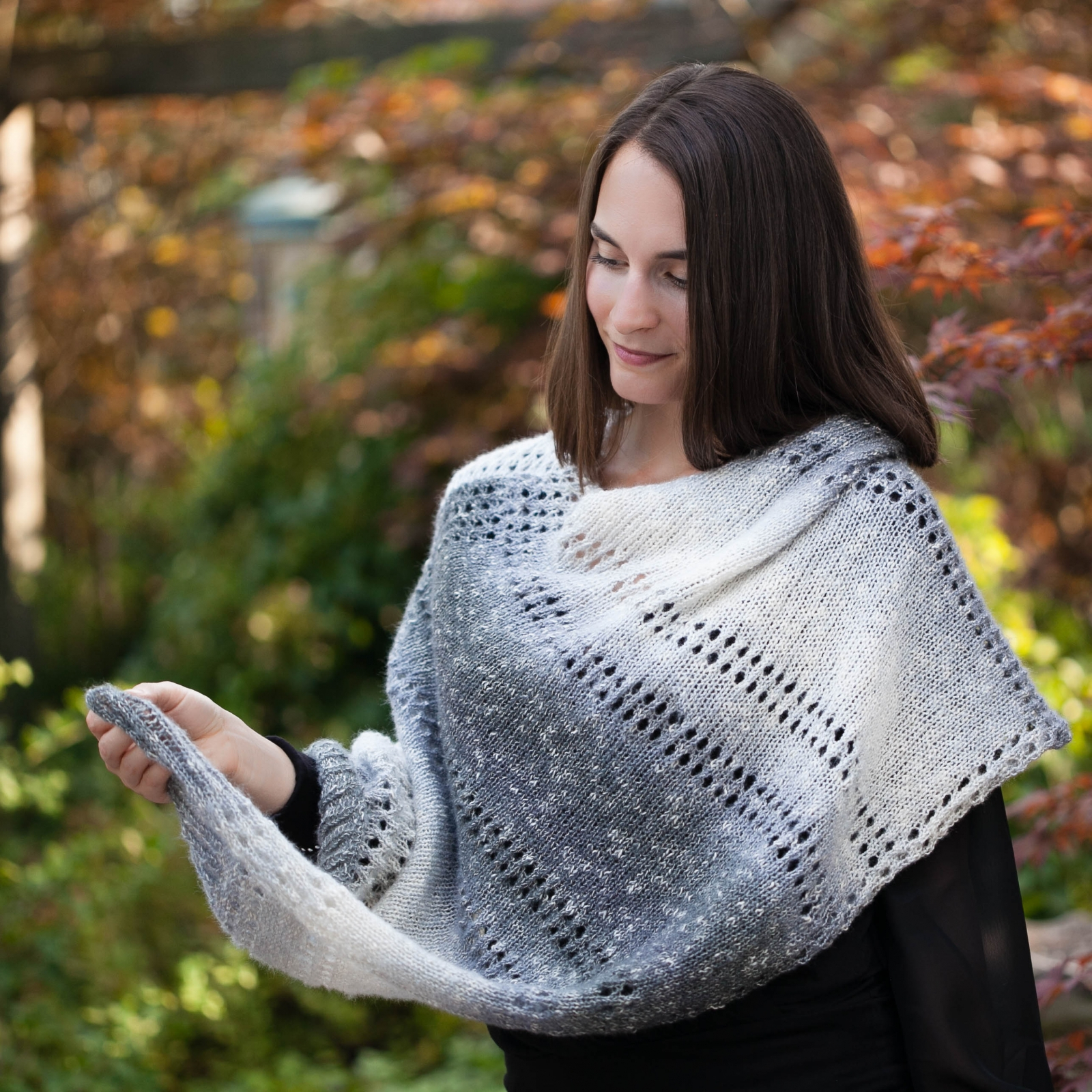 Poncho Pattern Knit Loom Knit Poncho Cape Pattern The Grey Skies Poncho Has An Elegant Design And Is An Easy Loom Knit Pdf Pattern Download