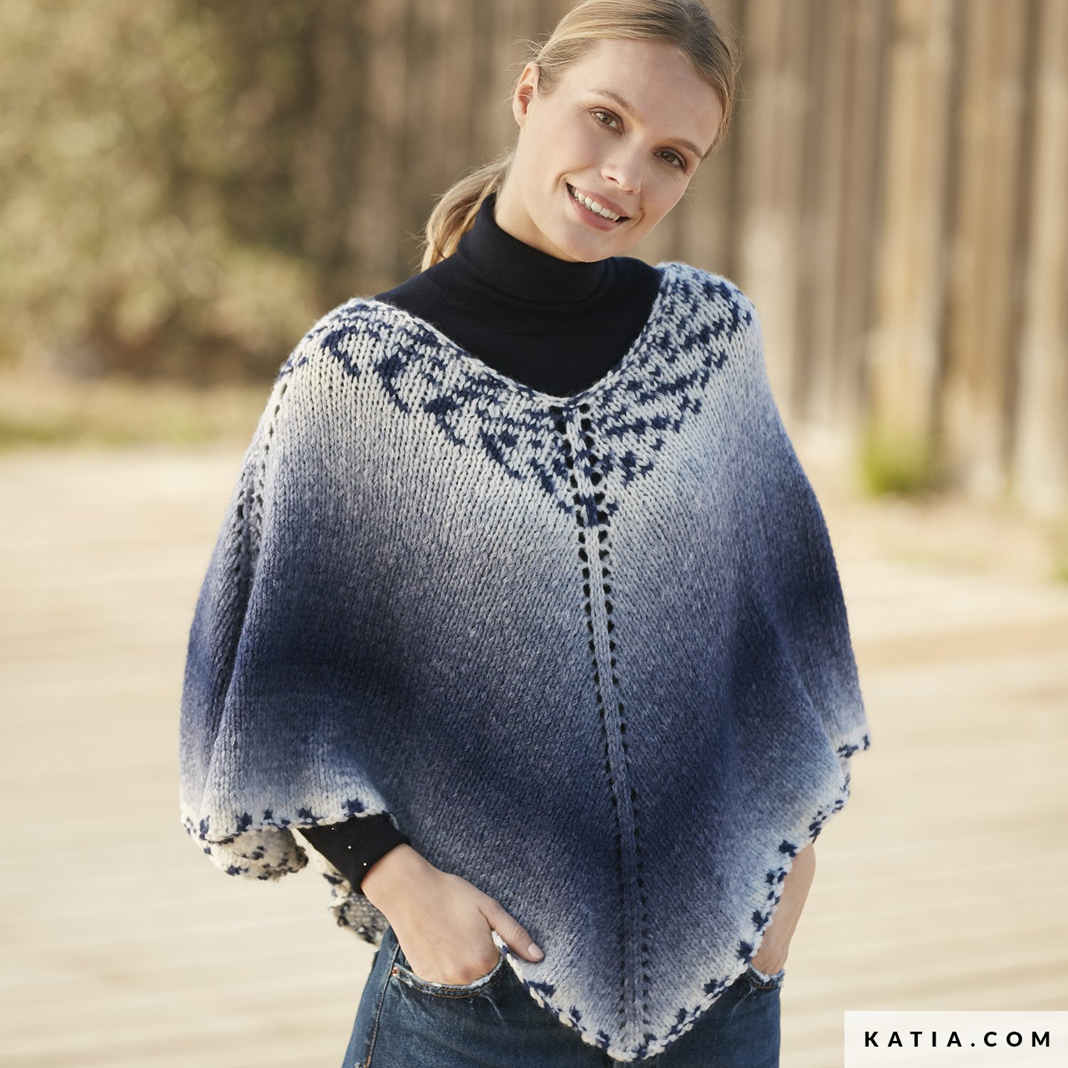 Poncho Pattern Knit Poncho Woman Autumn Winter Models Patterns Katia