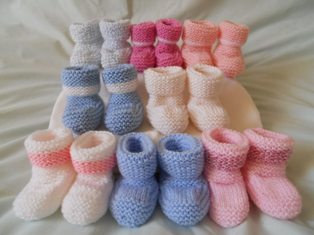 Premature Baby Knitting Patterns Prem Ba Booties Knitting Pattern Free To Knit Preemie Clothes Empoto