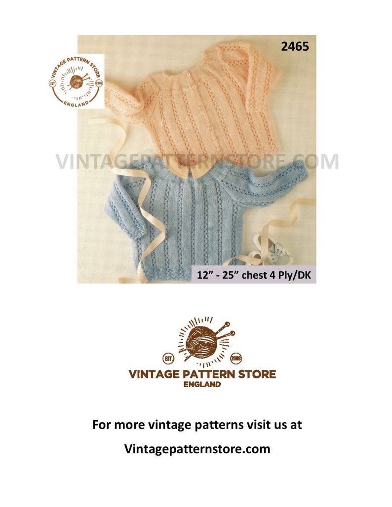 Premature Baby Knitting Patterns Premature Ba Knitting Pattern Preemie Ba Patterns Babies Lacy Cardigan Sweater In 4 Ply Or Dk 12 25 Chest Pdf Download 2465