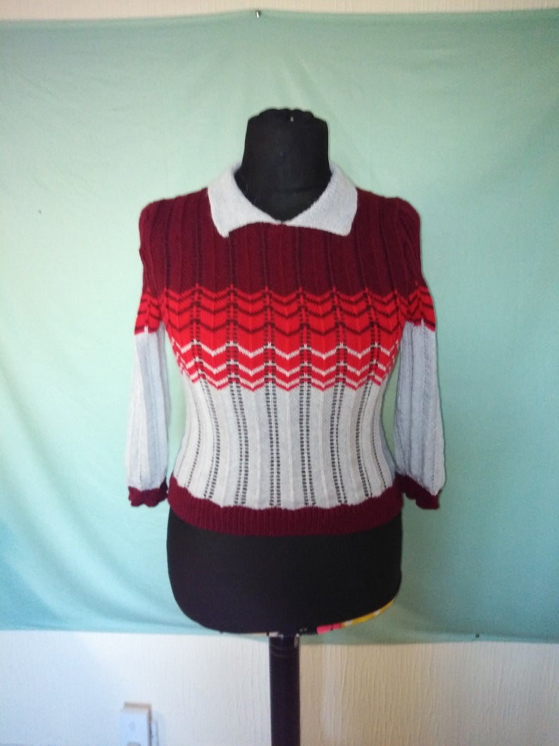 Ravelry Patterns Knitting Handmade Knitted 1940s Style Jumper From A Ravelry Pattern Your Victory