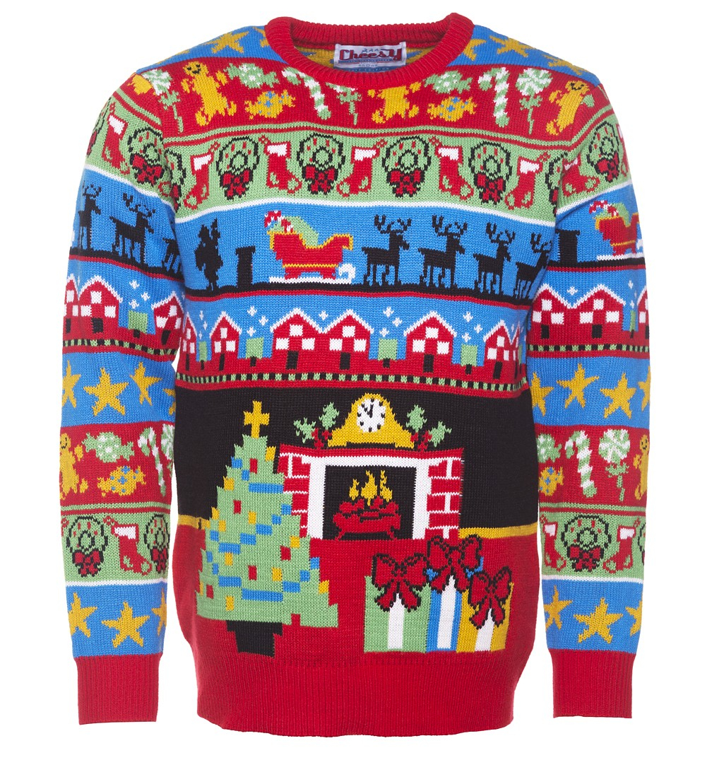 Retro Christmas Jumper Knitting Patterns Retro Twas The Night Before Christmas Knitted Jumper From Cheesy Christmas Jumpers