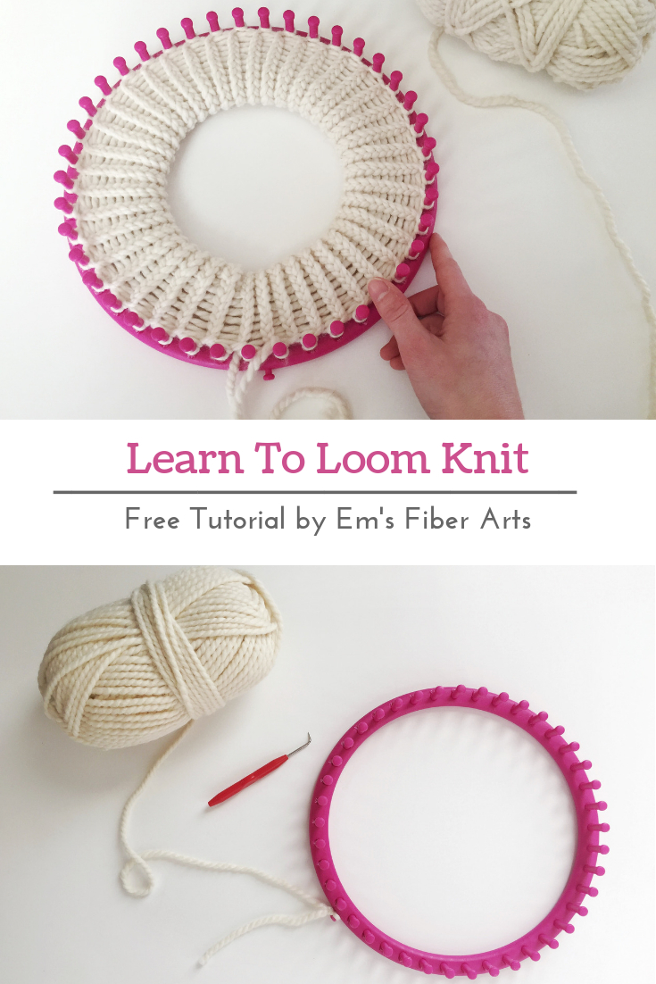 Round Knitting Loom Patterns Free Learn To Loom Knit Double Brim Beanie Tutorial Ems Fiber Arts