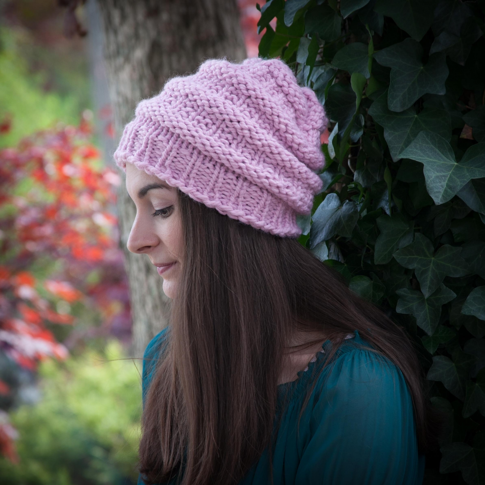 Round Loom Knitting Patterns Download Loom Knit Hat Pattern Slouch Hat Beanie Textured Bulky Chunky Knit Hat Pdf Pattern Download