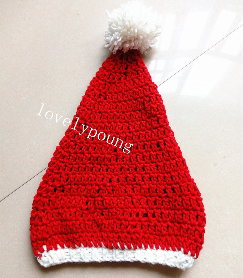 Santa Hat Knitting Pattern Us 759 5 Offholiday Sale Ba Santa Hatchristmas Hats Holiday Hat Ba Hat Knitted 100 Cotton Moq 1pc In Hats Caps From Mother Kids On