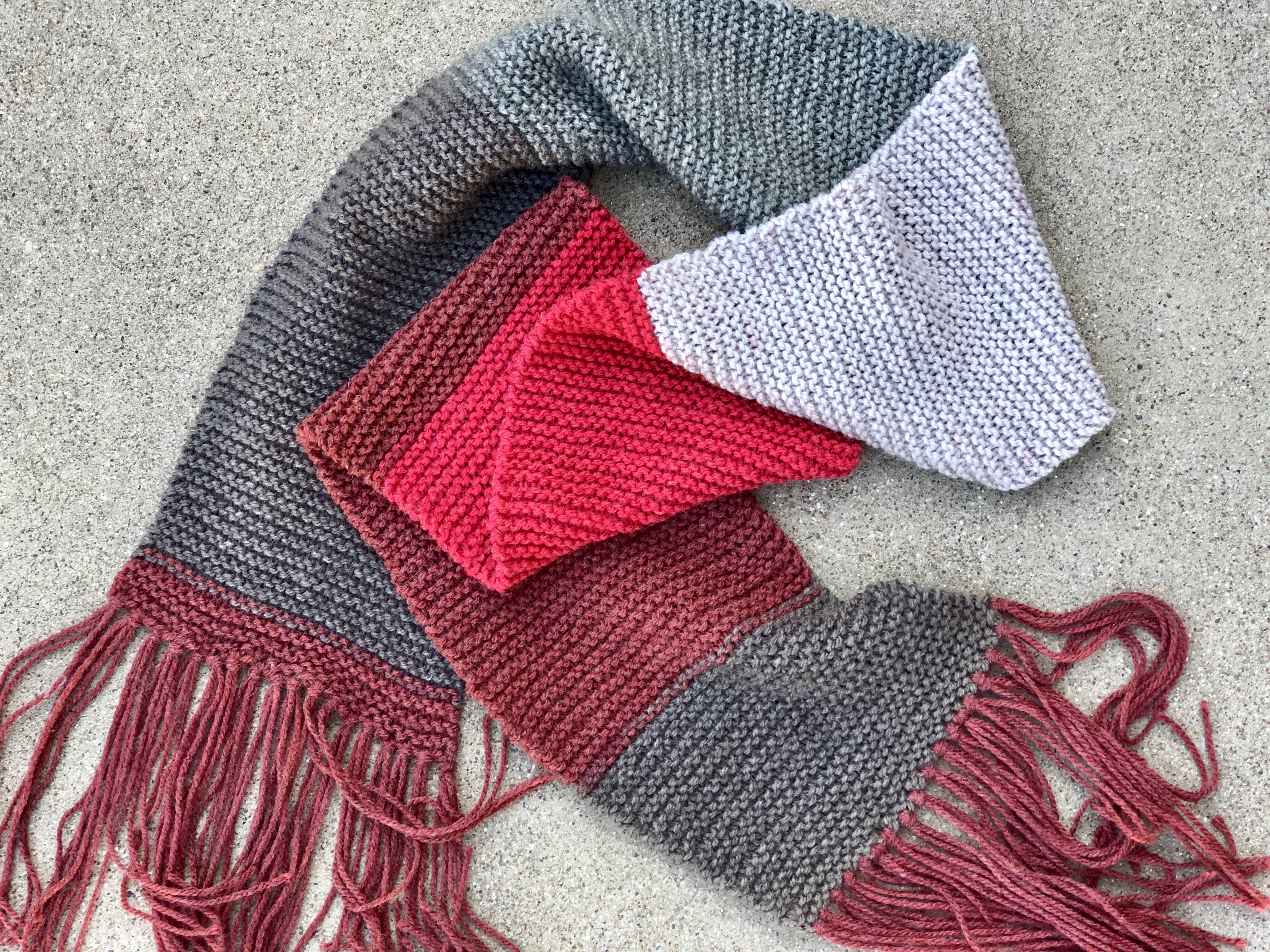 Scarf Patterns Knitting Beginner Free Pattern Review Caron Cakes Basic Knit Scarf Marni Made It