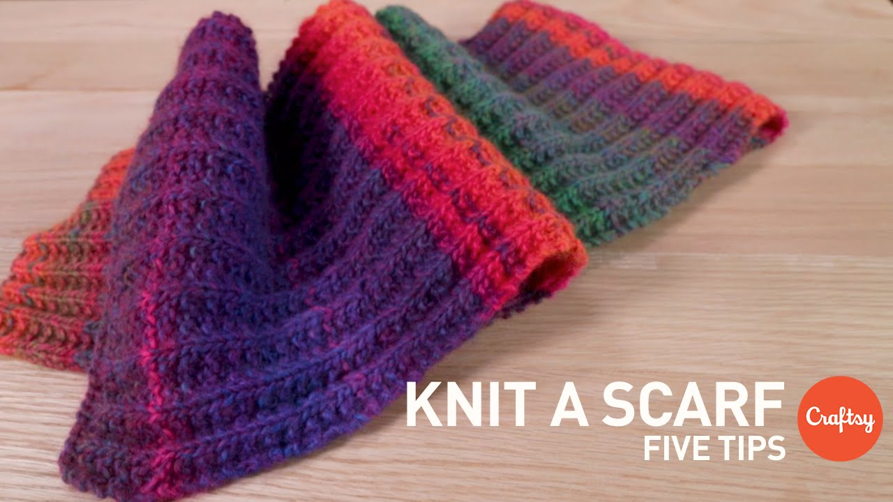 Scarf Patterns Knitting Beginner How To Knit A Scarf 5 Tips For Beginners Craftsy Knitting Tutorial
