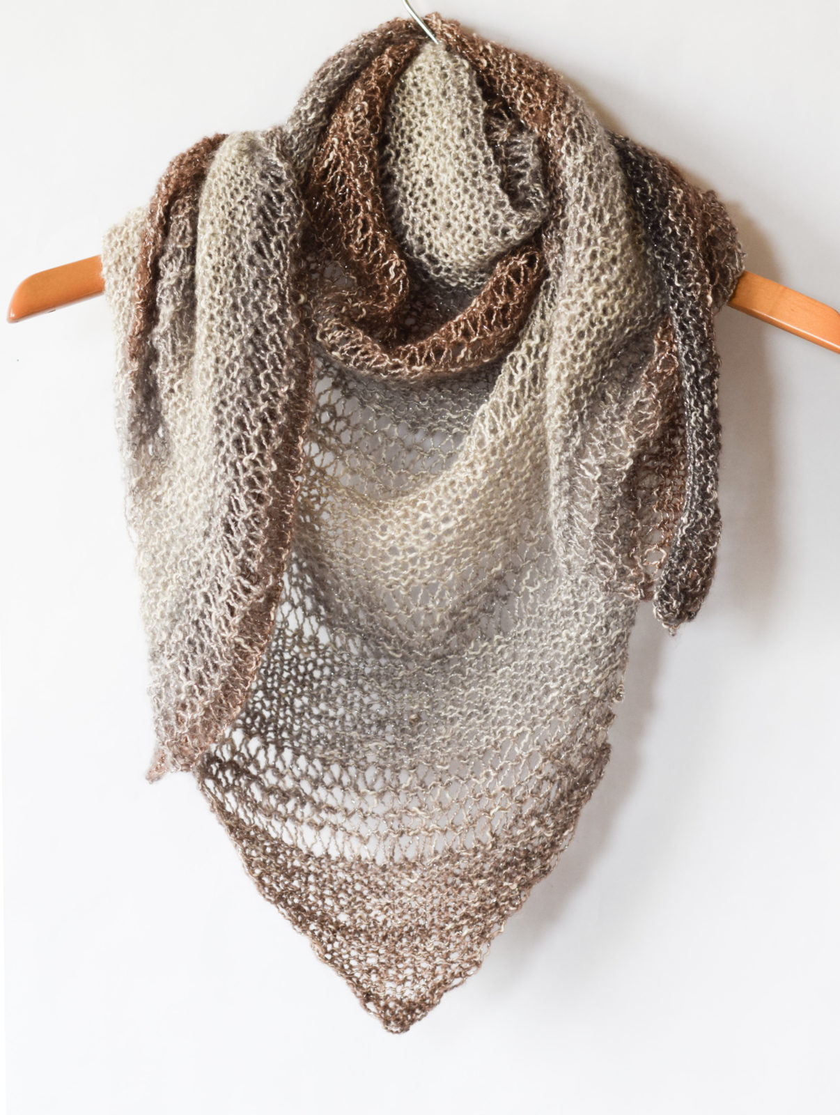 Scarf Patterns Knitting Beginner How To Knit An Easy Triangle Wrap Mama In A Stitch
